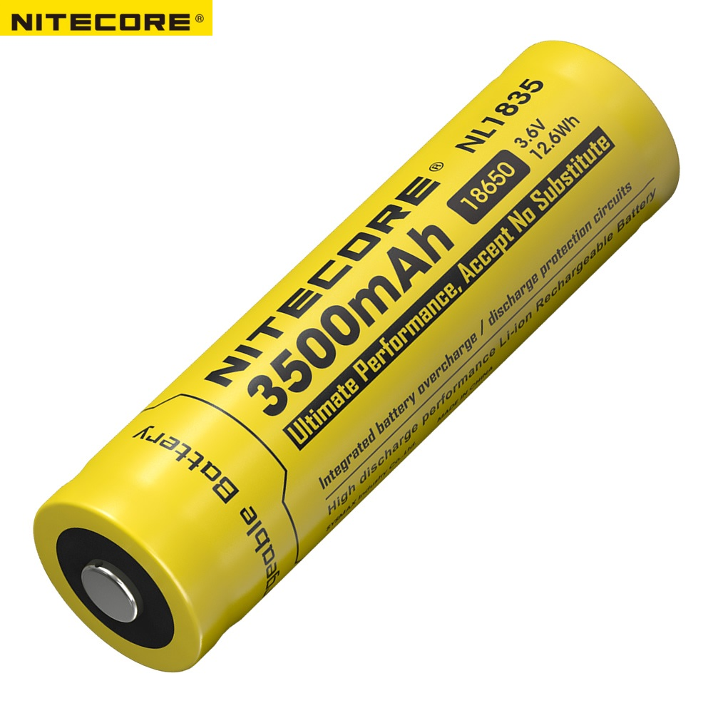 Nitecore NL1835 18650 3500mAh(new version of NL1834)3.6V 12.6Wh Rechargeable Li-on Battery high quality with protection