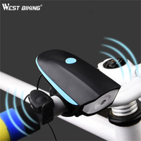 Cycling Mountain Bike Electric Horn Bicycle Super Bright Headlights Vocal USB Charging Night Riding Equipment Cycling