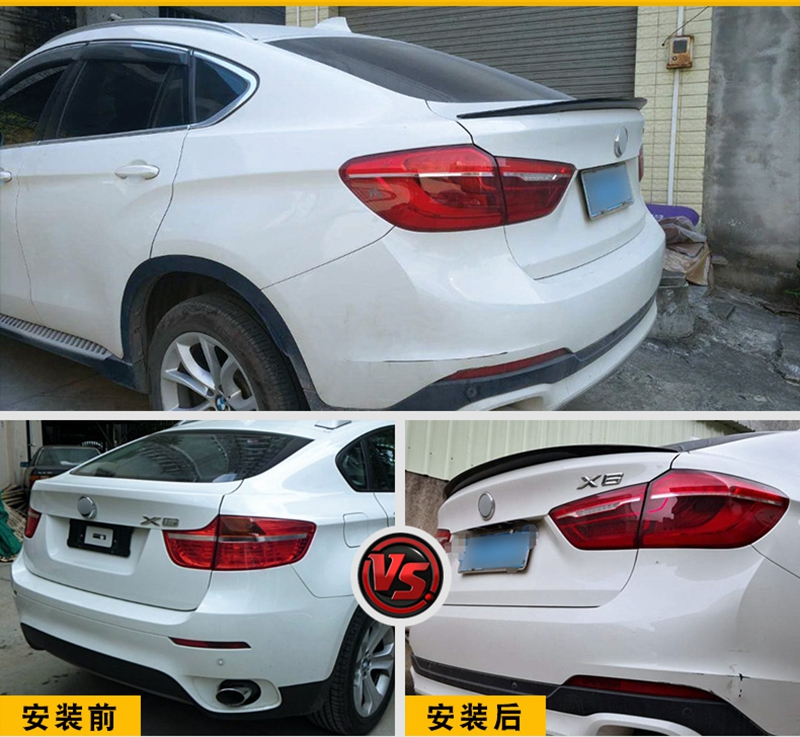 MONTFORD Car Styling ABS Plastic Unpainted Primer Color Rear Trunk Boot Wing Roof Lip Spoiler Auto Part For BMW F16 X6 2015 2016 eadweard muybridge