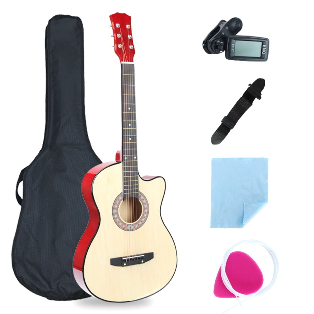 38 Inch Missing Angle Guitar Full Equipment Beginner Introduction Acoustic Guitar bts kpop midi teclado musical school WJ-JX6 38 inch missing angle guitar full equipment beginner introduction acoustic guitar bts kpop midi teclado musical school wj jx6