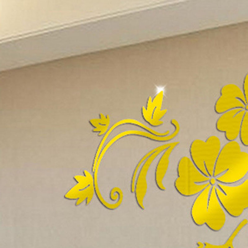 Fancy Mirror Effect Stickers Wall Decor Picture Collection - Wall ...