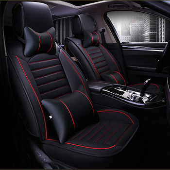 HeXinYan Leather Universal Car Seat Covers for Ford all models focus mk2 fiesta s-max mondeo mk4 explorer ecosport auto styling leather only 2 front car seat covers for ford mondeo focus fiesta edge explorer taurus s max auto accessories car styling