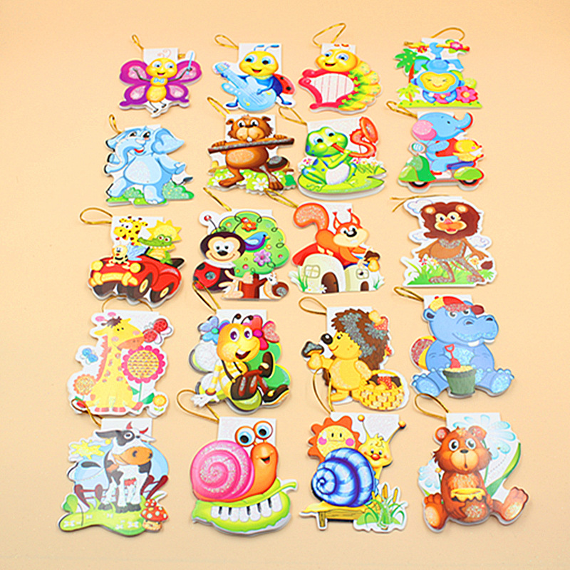 160 pieces/lot)Cartoon Animal Mini Greeting Card Thank You Card ...