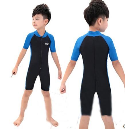 Kids Lycra Wataer Sport Swimsuit Girl Boy Surf Wetsuits One Piece - Sportswear and Accessories