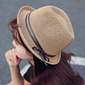 Fashion summer beach hat Classic Outdoor Casual travel Straw hats wide brim floppy high quality leather belt Foldable cowboy cap