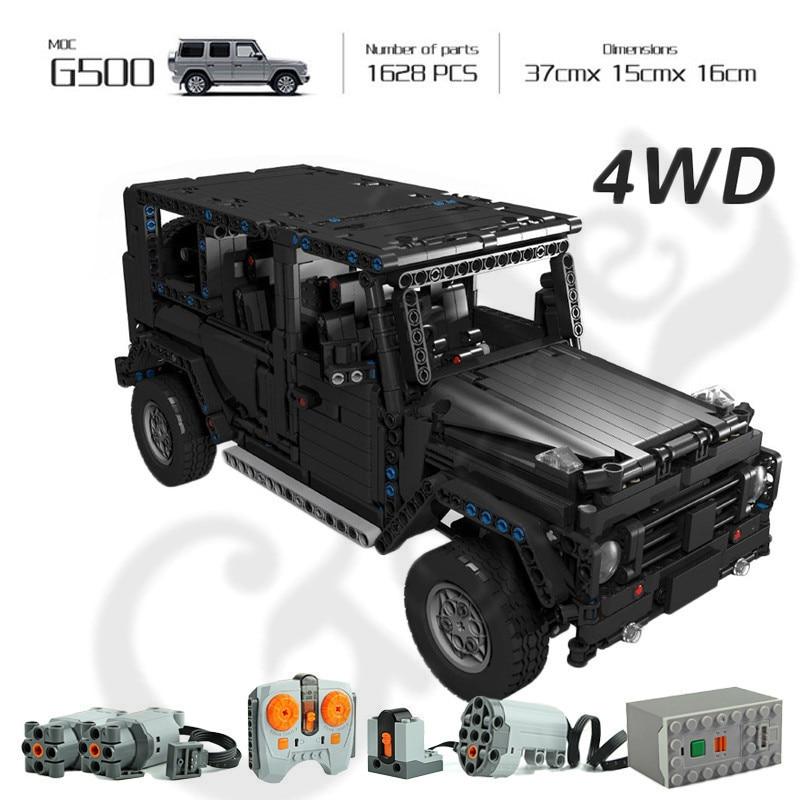 Technic 20100 Compatible avec legoing Technik MOC 2425 G500 AWD Wagon RC moteurs voiture ensembles blocs de construction briques jouets éducatifs