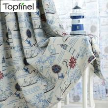 Topfinel пиратского корабля шторы для детей Детская комната Тюль для гостиной спальни Занавески для окна плотные панель шторы