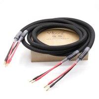 Freies verschiffen moonsaudio M2.4 5N OFC kupfer Hallo Fi Lautsprecher kabel mit 24 Karat vergoldete stecker