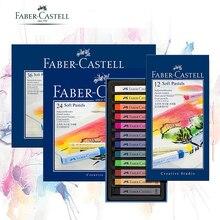 Faber castell פסטל מקל 12/24/36/48/72 צבעים צבוע גיר שעווה צבעים כחול תיבת שמן פסטל עפרון רך פסטל Blando עבור אמנות