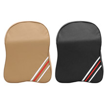 Car Seat Support Cushions Headrest Car Neck Safety Rest Cushion PU Leather Memory Foam Car Seat Pillow(China)