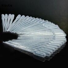 100 шт./компл. 3 мл Прозрачный пипетки Одноразовые безопасные Пластик пипетки передачи Градуированные пипетки для лабораторного эксперимента расходные материалы