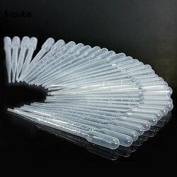 100 шт./компл. 3 мл Прозрачный пипетки Одноразовые Сейф пластиковая капельница для глаз передачи Градуированные пипетки для лабораторного
