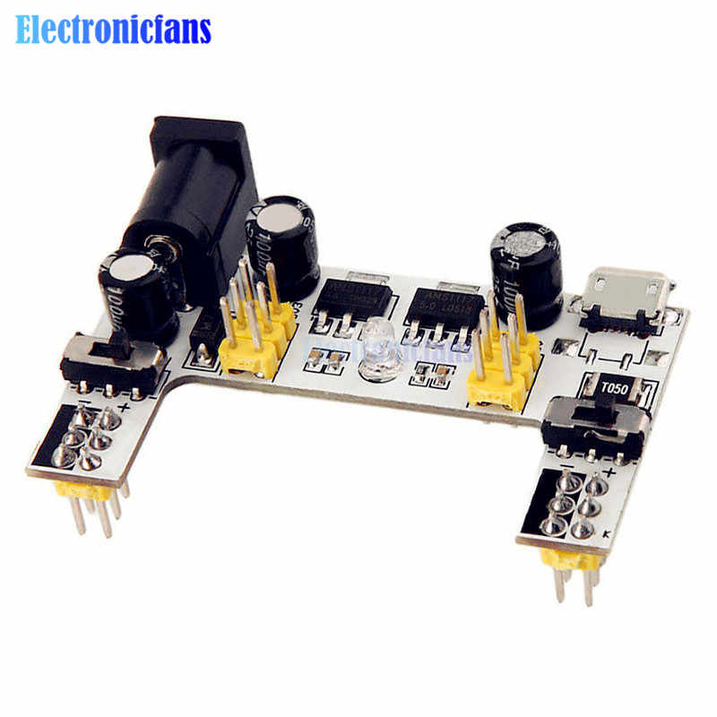 MB102 DC 7-12V Micro USB Interface Breadboard Power Supply โมดูล MB-102 โมดูล 2 Channel BOARD สำหรับ Arduino