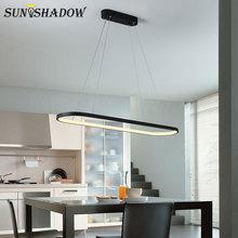 Black&White Modern Led Chandelier Hanging Lamp Ceiling Lighting 120cm 90cm 69cm For Dining room Living Kitchen
