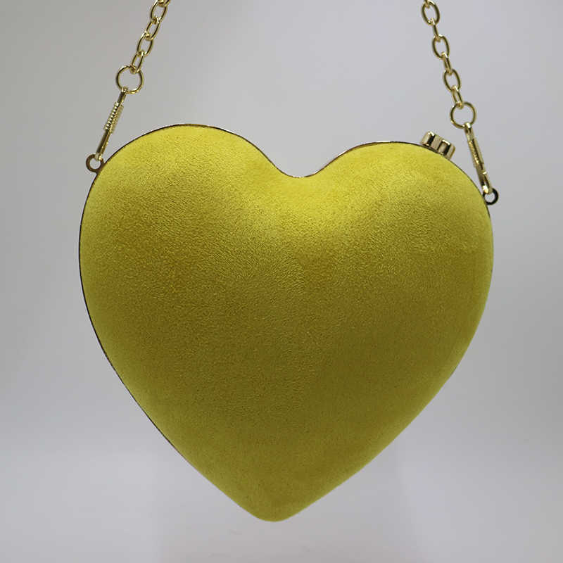Королевские Nightingales Мини-клатч с сердечками, замшевые бархатные Желтые красные вечерние сумки и сумки для женщин, для вечеринки, выпускного вечера