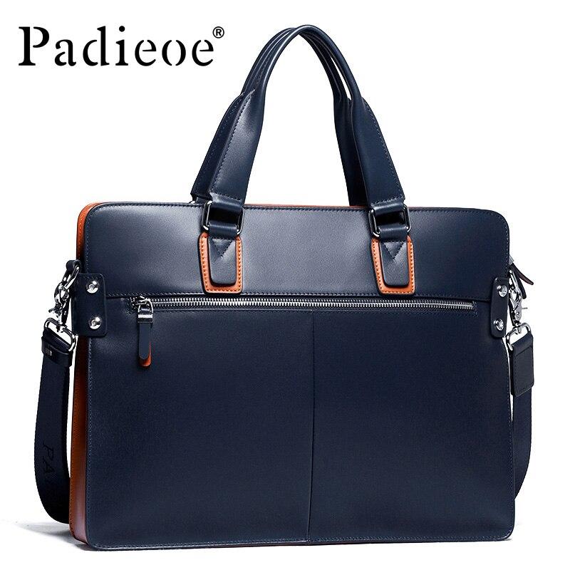 Bandoulière D'affaires Mode Padieoe Offre Noir documents bleu Spéciale Porte Luxe Hommes Deluxe À Cuir Sacs De Mâle Marque Durable Véritable qwxzR1qOv