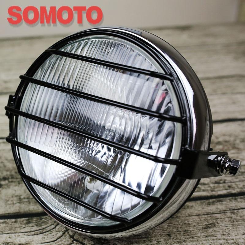 high performance head lights 6.9 inch round motorcycle headlamp 12V 35W H4 head light for motorcycle custom vintage headlight