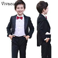 Boys Tuxedo Suits For Weddings Kids Prom Suits Wedding Clothes for Boys Children Clothing Sets Boy Tuexdo Boys Dresses F094