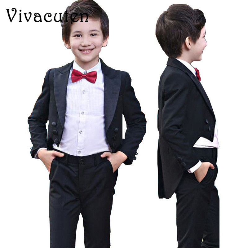 Boys Tuxedo Suits For Weddings Kids Prom Suits Wedding Clothes for Boys Children Clothing Sets Boy Tuexdo Boys Dresses F094 бокс thule ocean 200 450л 175x82x45 см антрацит c односторонним открыванием 690013
