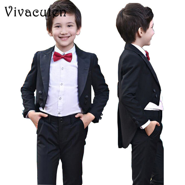 Boys Tuxedo Suits For Weddings Kids Prom Suits Wedding Clothes for ...