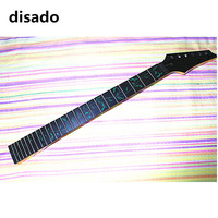 disado 24 Frets inlay green tree of lifes maple Electric Guitar Neck rosewood fretboard black headstock Guitar accessories parts