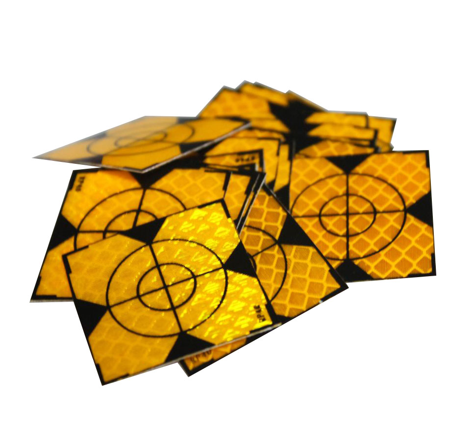 цены Brand NEW 500pcs Yellow Reflector Sheet 40 x 40 mm Reflective Tape Target for nikon sokkia topcon Total Station