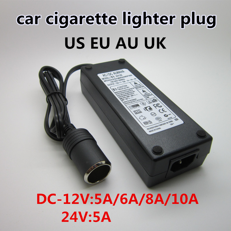 Encendedor de coche adaptador de CA 110 V 220 V a 12 V 5A 6A 8A 10A inversor adaptador de corriente encendedor de transformador DC T