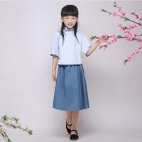 Girls ROC wind child costume clothing school Ancient Miss Fourth Youth Fancy Dress costume class graduation season
