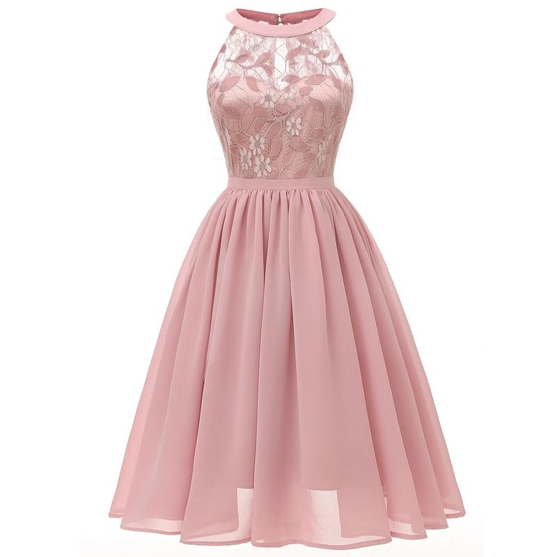 Fashion High Quality Evening Dress 2019 Elegant Design Short Length Chiffon Formal Dress Lace Formal Evening Gown Party Dresses