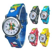 Cartoon aircraft Lovely Kids Watches For Girls Boys Gift Clock Children