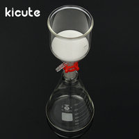 KiCute New 1000ml Glass Suction Filter Kit Laboratory Bottle 350ml Buchner Funnel 1 Litre Erlenmeyer Flask