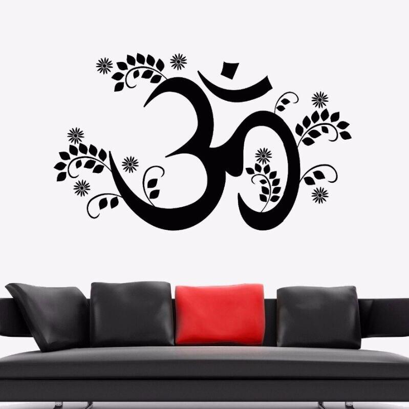 yoga wall sticker om mantra yoga hinduism vinyl wall decal living