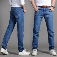Summer teen denim men slim trousers straight casual jeans 1HLDI