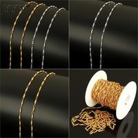 Stainless Steel Jewelry Chain With Plastic Sliver Bracelet Necklace Chains Spool Fashion Reel Bobbin Plated Making Jewelry Gold