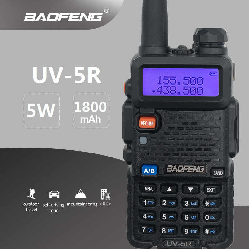 BAOFENG Walkie Talkie UV-5R SDR HF Transceiver UHF VHF Dual Band Mobile Radio Station Amateur Woki Toki RF Transmitter Hunting