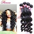 7A Peruvian Loose Wave Peruvian Virgin hair Loose Wave 3 Bundles Princess Hair Products Loose Curly Hair Human Hair Extensions