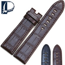 Pesno Suitable for MONTBLANC Black Brown Crocodile Leather Watch Accessories Genuine Leather Watch Strap for Men