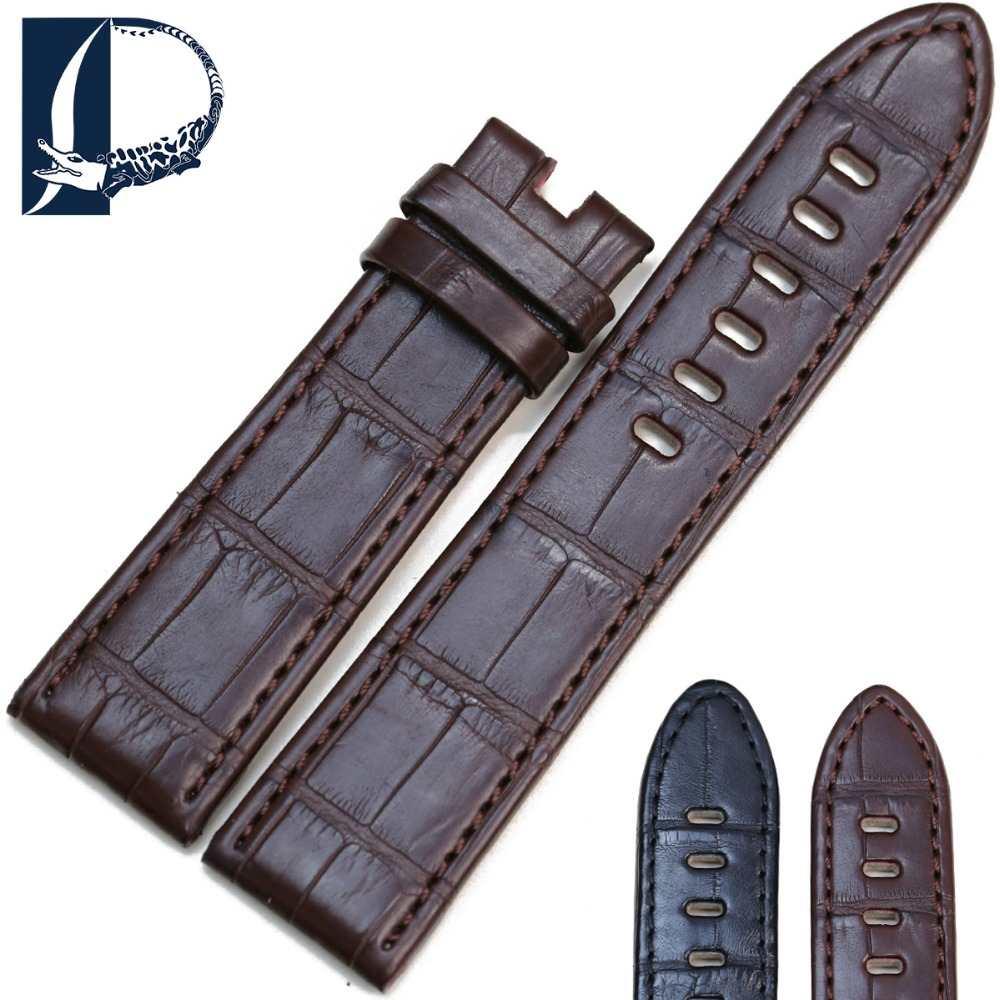 Pesno Suitable for Timewalker Star Black Brown Crocodile Leather Watch Accessories Genuine Leather Watch Strap for Men's Watch