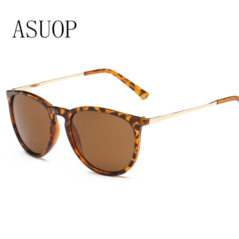 ASUOP2019new mote damer solbriller menn oval kjører retro metall ramme menns briller klassisk merkevare leopard UV400 solbriller