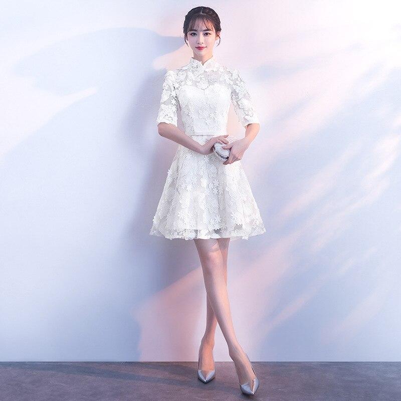 Chinese Women Improved Qipao Traditional Handmade Button Cheongsam Classic Bridesmaid Wedding Dress Casual Vintage Vestidos