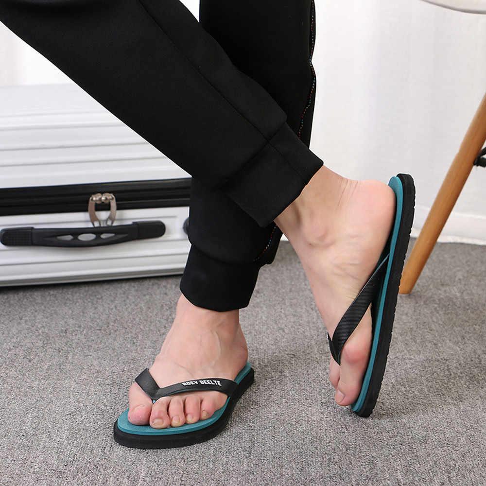ef8cd773e ... Summer Soft Casual Men Flat Wedge Sandals Thong Round Toe Flip Flops  Slippers Beach Men s Outdoors ...