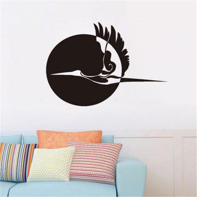 Aliexpresscom Buy Sun And Flying Stork Wall Sticker Home Decor - Lego wall decals vinylaliexpresscombuy free shipping lego evolution decal wall