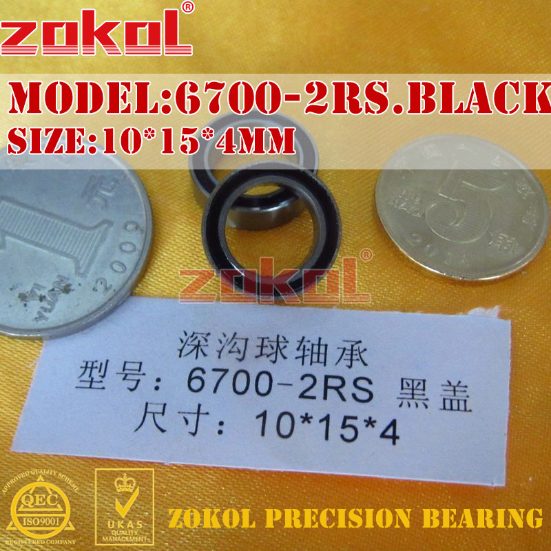 ZOKOL Bearing 6700 2RS ZZ 1000700 6700RS Deep Groove Ball Bearing 10*15*4mm