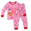 OEM por atacado animal cor de rosa dos desenhos animados porco pijama kids3t 4 t em meninas conjunto roupas alibaba peppapijamas calças da criança se encaixa orgânica pjs