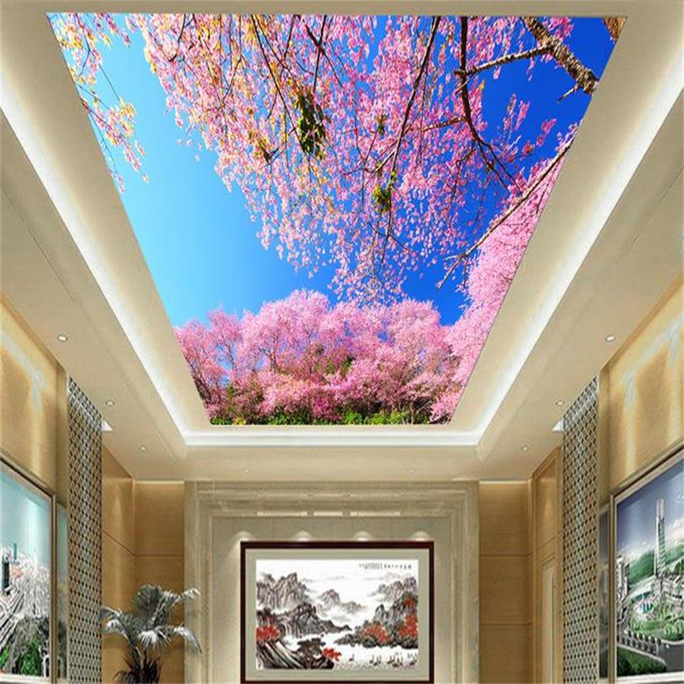custom size 3d photo wallpaper living room ceiling mural ...