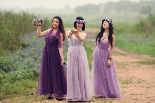 Changeable Bridesmaid dresses long design 2017 sisters dress ... 066e0b19ecb8