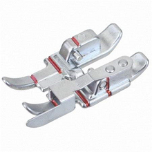 1PC 1/4 Locking Cloth Edge with Baffle Sewing Machine Foot Metal Red Line Dedicated Presser Foot for Household Sewing Machines 1pcs locking edge sewing edge sewing machine foot 7310 metal household multifunction presser feet for sewing machine accessories