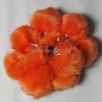 Free shipping fur ball for phones synthetic fur ball cheap ball