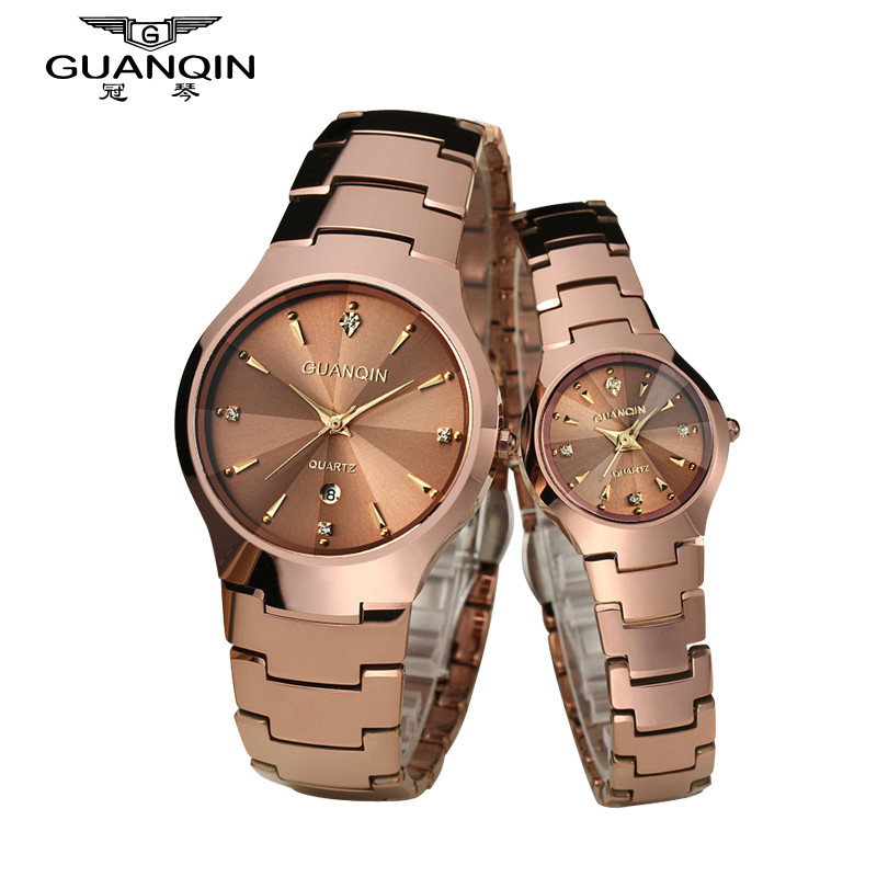 2018 New Couples GUANQIN Watch Luxury Fashion Couples Watch Pair Watches Woman Men Brand Watch Lovers Quartz Wristwatch guanqin lovers watch women men wristwatches clock leather relojes quartz wristwatch casual couples wrist watch dropshipping