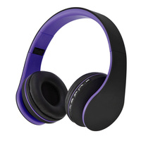 Wireless Stereo Bluetooth Headset 4 In 1 Headphones Wired Earphone With Mic MicroSD TF Music FM